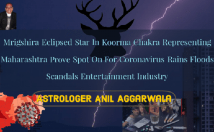 Mrigshira Eclipsed Star In Koorma Chakra Representing Maharashtra Prove Spot On For Coronavirus Rains Floods Scandals Entertainment Industry Astrologer Anil Aggarwala