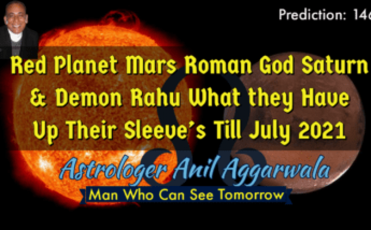 Red Planet Mars Roman God Saturn & Demon Rahu What they Have Up Their Sleeve's Till July 2021 Astrologer Anil Aggarwala