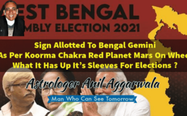 Sign Allotted To Bengal Gemini As Per Koorma Chakra Red Planet Mars On Wheel What It Has Up It's Sleeves For Elections ? Astrologer Anil Aggarwala