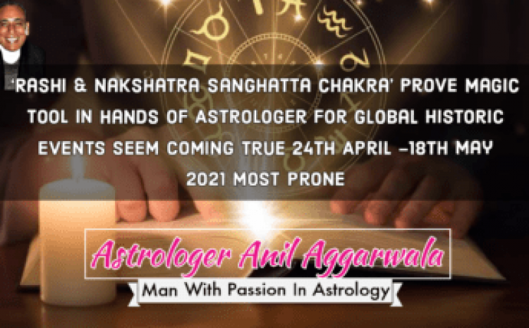 'Rashi & Nakshatra Sanghatta Chakra' Prove Magic Tool In Hands Of Astrologer For Global Historic EventsSeem Coming True24th April -18th May 2021 Most Prone Astrologer Anil Aggarwala