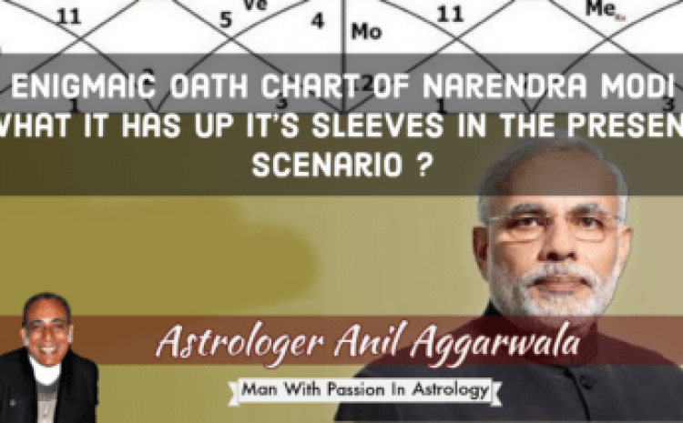 Enigmaic Oath Chart of Narendra Modi What It has Up It's Sleeves In the Present Scenario ? Astrologer Anil Aggarwala