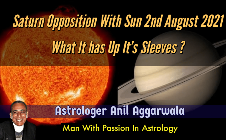 Saturn Opposition With Sun 2nd August 2021 What It has Up It's Sleeves ?